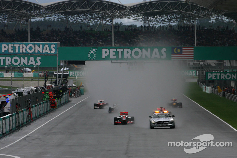 Safety car, Lewis Hamilton, McLaren Mercedes
