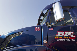 The hauler of Landon Cassill, BK Racing Toyota