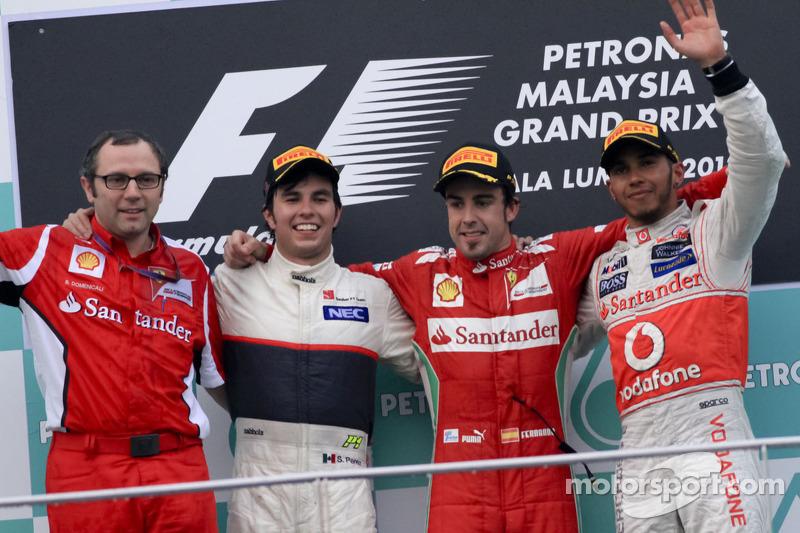 GP da Malásia 2012 – Depois de um ano difícil em 2011, Alonso fez milagre em suas duas primeiras vitórias em 2012, vencendo os GPs da Malásia e da Europa (em Valência) largando fora do top-10.