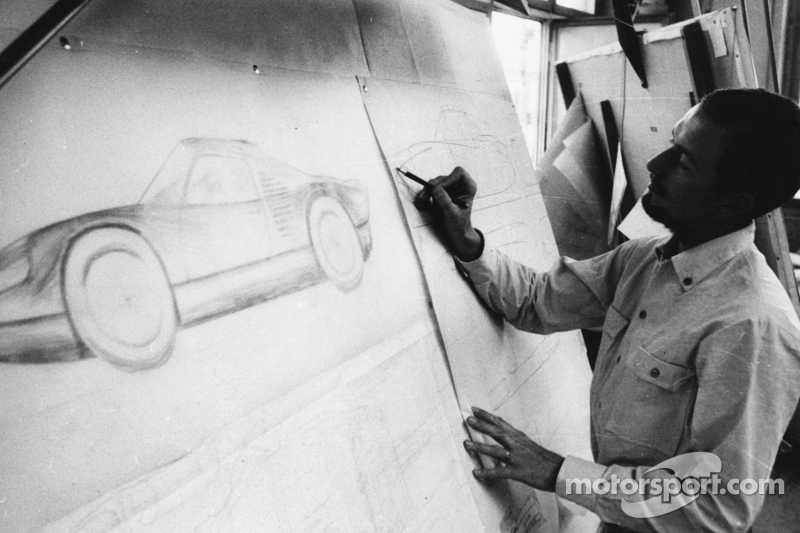 Ferdinand Alexander Porsche in his Designoffice (1963)