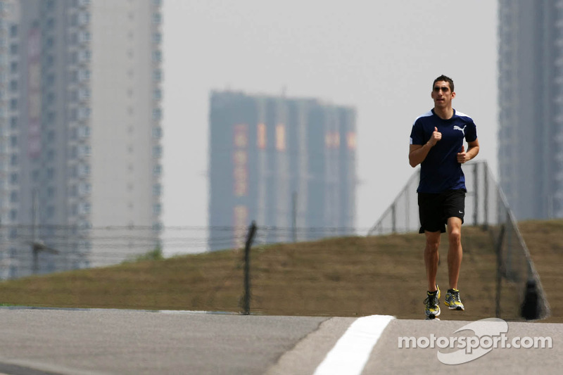 Sebastien Buemi, Red Bull Racing third driver runs the circuit