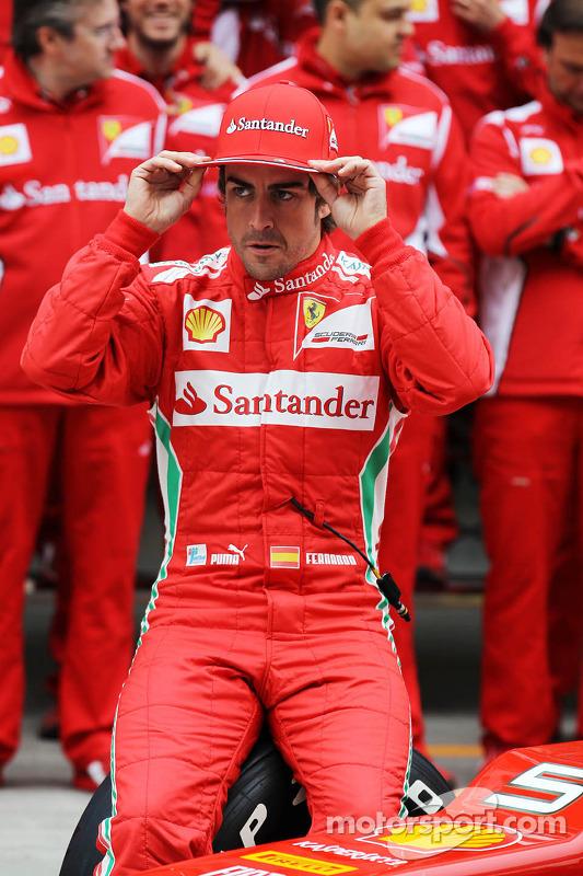 Fernando Alonso, Scuderia Ferrari teamfoto