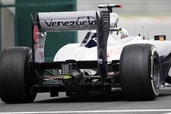 Pastor Maldonado, Williams rear diffuser detail