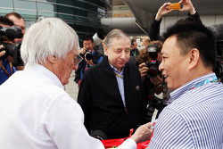 Bernie Ecclestone, CEO Formula One Group, and Jean Todt, FIA President