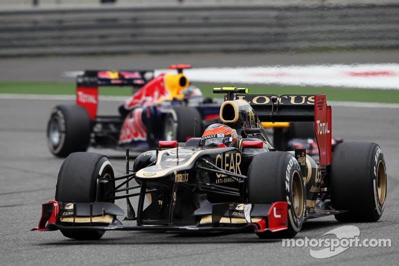Romain Grosjean, Lotus F1 voor Sebastian Vettel, Red Bull Racing