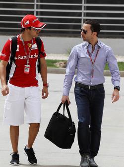 Felipe Massa, Scuderia Ferrari with Nicolas Todt, Driver Manager