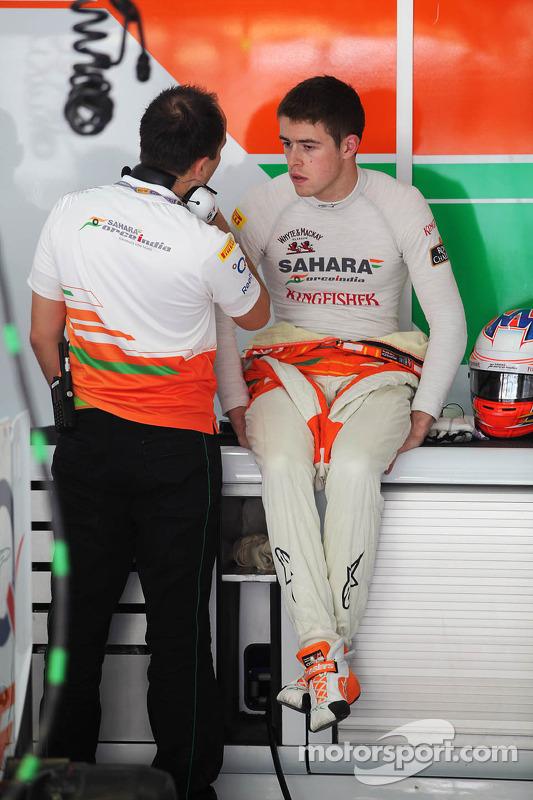 Paul di Resta, Sahara Force India F1 in de pits