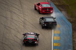 #61 Roush Performance Mustang Boss 302R: Billy Johnson, Jack Roush Jr., #01 CKS Autosport Camaro GS.R: Lawson Aschenbach, Eric Curran,#62 Mitchum Motorsports Camaro GS.R: Joey Atterbury, Gunter Schaldach