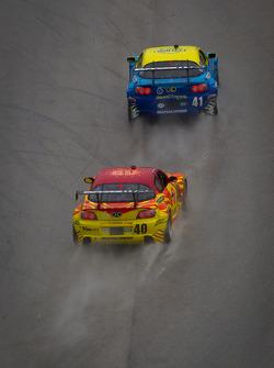 #41 Dempsey Racing Mazda RX-8: Charles Putman, Charles Espenlaub,#40 Dempsey Racing Mazda RX-8: Patrick Dempsey, Joe Foster