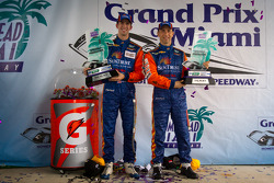 DP podium: class and overall winners Max Angelelli and Ricky Taylor
