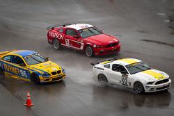 #52 Rehagen Racing Ford Mustang GT: Dean Martin, Bob Michaelian, #02 Starworks Motorsport Mustang Boss 302R: Lucas Luhr, Alex Popow, #96 Turner Motorsport BMW M3 Coupe: Bill Auberlen, Paul Dalla Lana