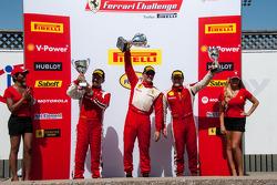 458CS podium: first place Ryan Ockey, second place Jose Valera, third place Robert Herjavec