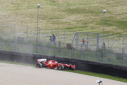 Fernando Alonso, Scuderia Ferrari crash