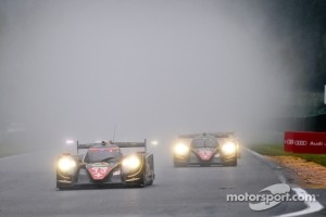 #13 and #12 Rebellion Racing Lola B12/60 Toyota in the rain at Spa, 2012