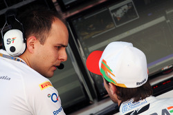 Gianpiero Lambiase, Sahara Force India F1 Engineer with Jules Bianchi, Sahara Force India F1 Team