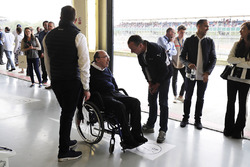 Sir Frank Williams, son Jonathan, Pastor Maldonado