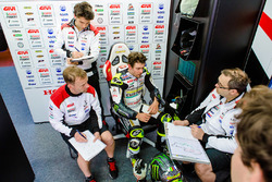 Cal Crutchlow, Team LCR Honda, Marco Barbiani, Team LCR Honda data engineer