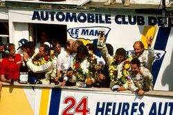 Podium: 1. Jochen Mass,  Manuel Reuter, Stanley Dickens, Sauber Mercedes; 2. Mauro Baldi, Kenny Acheson, Gianfranco Brancatelli, Sauber Mercedes; 3. Bob Wollek, Hans-Joachim Stuck, Joest Racing