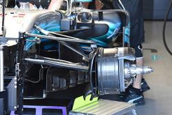 Mercedes AMG F1 W08, dettaglio del freno anteriore