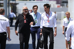 Flavio Briatore, Toto Wolff, Executive Director Mercedes AMG F1