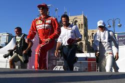 Kimi Raikkonen, Ferrari, Matteo Bonciani, FIA Media Delegate, Valtteri Bottas, Mercedes AMG F1
