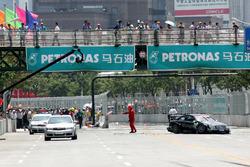 Bernd Maylander, AMG Mercedes Benz CLK DTM crashes
