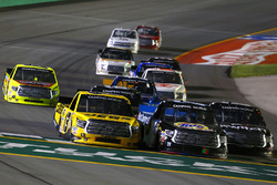 Noah Gragson, Kyle Busch Motorsports Toyota, Parker Kligerman, Henderson Motorsports Toyota and Cody Coughlin, ThorSport Racing Toyota