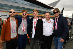 Kaiser Chiefs and Zak Brown, McLaren Executive Director
