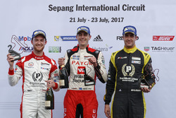Podium: race winner David Wall, second place Dylan O'Keeffe, third place, Alex Davison