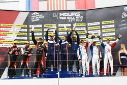 P2 Podium: race winners #32 United Autosports, Ligier JSP217 - Gibson: William Owen, Hugo de Sadeleer, Filipe Albuquerque, second place #22 G-Drive Racing, Oreca 07 - Gibson: Memo Rojas, Ryo Hirakawa, Leo Roussel, third place #39 GRAFF, Oreca 07 - Gibson: Eric Trouillet, Paul Petit, Enzo Guibbert