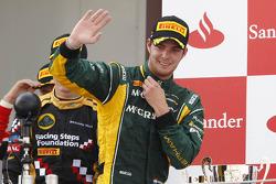 Podium: race winner Giedo van der Garde