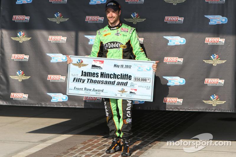 Second fastest James Hinchcliffe, Andretti Autosport Chevrolet