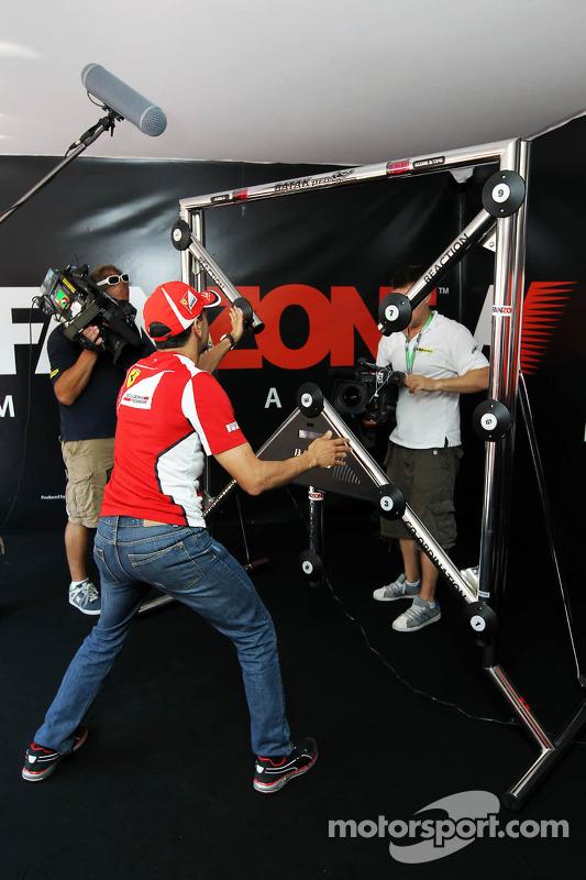 Marc Gene, Ferrari Test Driver at the Fanzone