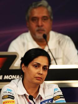 Monisha Kaltenborn, Sauber Managing Director in the FIA Press Conference