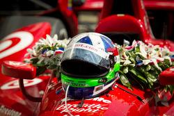 Victory circle: the winning car of Dario Franchitti, Target Chip Ganassi Racing Honda