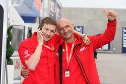 Alexey Dudukalo, SEAT LeonWTCC, Lukoil Racing Team en Gabriele Tarquini, SEAT LeonWTCC, Lukoil Racing Team