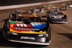 Kyle Busch follows the pace car