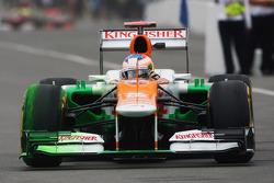 Paul di Resta, Sahara Force India running flow-vis paint