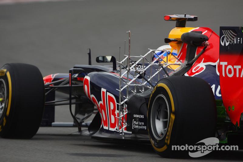Sebastian Vettel, Red Bull Racing met sensoren