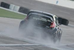 Rally Car runs through the