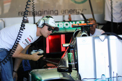 Nico Rosberg, Mercedes AMG F1 eats some food after sitting out most of the third practice session