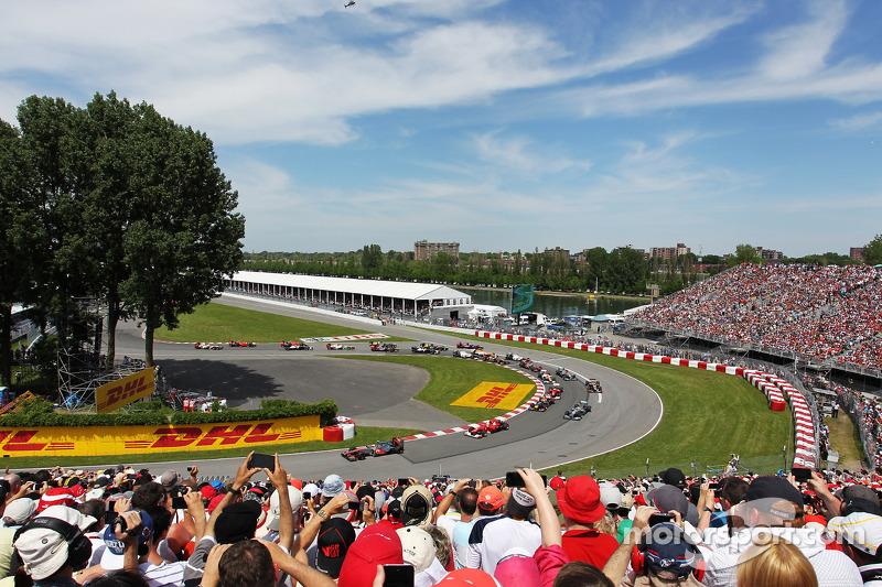Lewis Hamilton, McLaren Mercedes start van de race