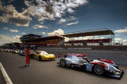 Start of practice session: #40 Race Performance Oreca 03 Judd: Michel Frey, Ralph Meichtry, Jonathan Hirschi