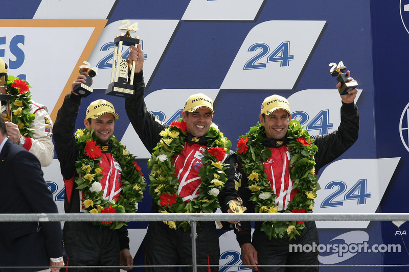 LMP2 podium: third place Luis Perez Companc, Pierre Kaffer, Soheil Ayari