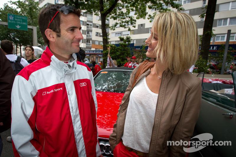 Romain Dumas met zijn vrouw