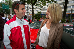 Romain Dumas with his wife