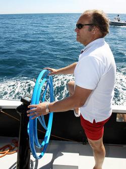 Bob Fernley, Sahara Force India F1 Team Deputy Team Principal on the Aethra America's Cup Boat