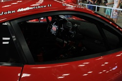 Driver's names and cockpit view of he 458 Italia GRAND-AM, owned by Risi Competizione in partnership with Godstone Ranch Motorsports
