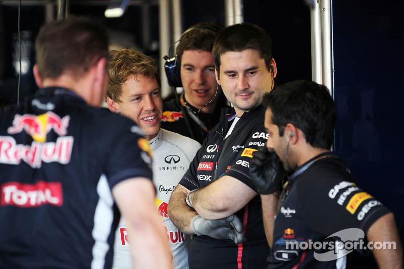 Sebastian Vettel, Red Bull Racing met team