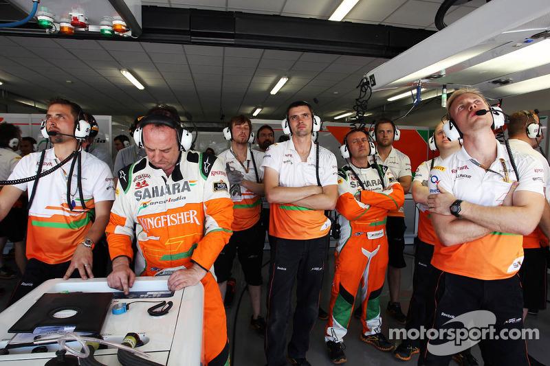 Sahara Force India F1 Team bekijkt de kwalificaties